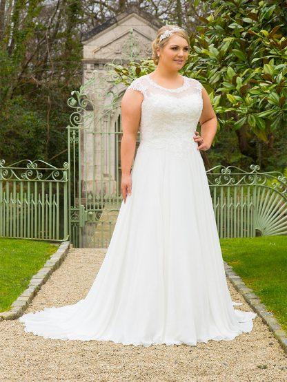 Plus Size Wedding Dress - H18714 Front