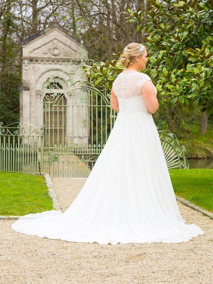 Plus Size Wedding Dress - H18714 Back