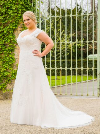 Plus Size Wedding Dress - H18715 Front