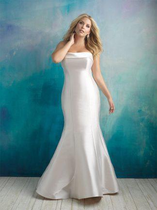Plus Size Wedding Dress - HBA412 Front