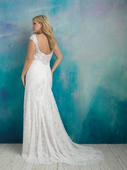 Plus Size Wedding Dress - HBA414 Back