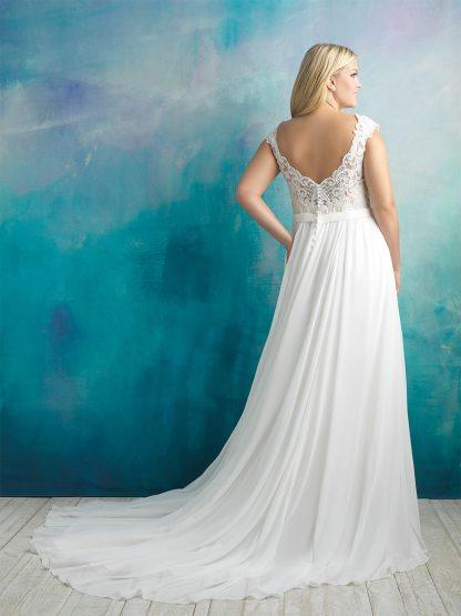 Plus Size Wedding Dress - HBA415 Back
