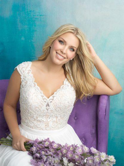 Plus Size Wedding Dress - HBA415 Close
