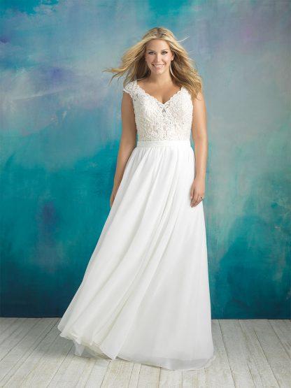 Plus Size Wedding Dress - HBA415 Front