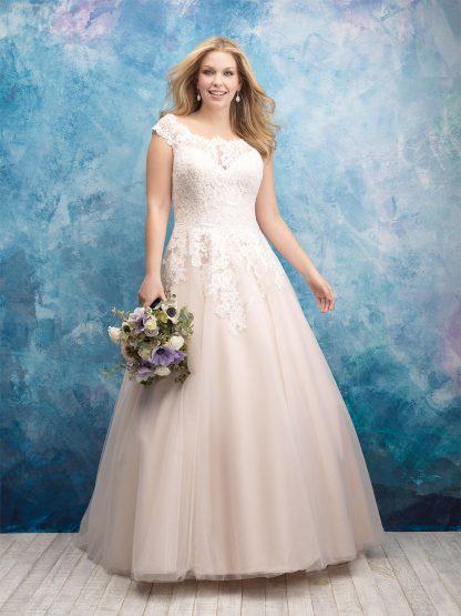 Plus Size Wedding Dress - HBA419 Front