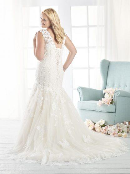 Plus Size Wedding Dress - HBB1807 Back