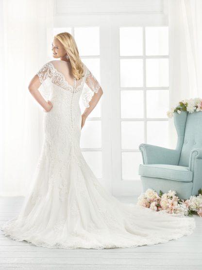 Plus Size Wedding Dress - HBB1809 Back