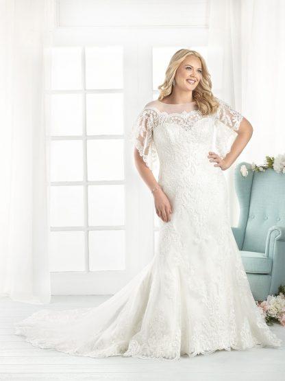 Plus Size Wedding Dress - HBB1809 Front