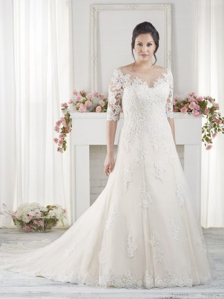 Plus Size Wedding Dress - HBS1618 Front