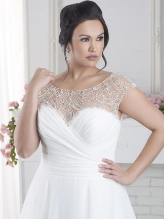 Plus Size Wedding Dress - HBS1619 Front
