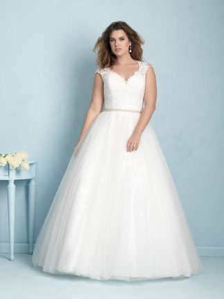 Plus Size Wedding Dress - HBW350 Front