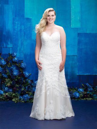 Plus Size Wedding Dress - HBW391 Front