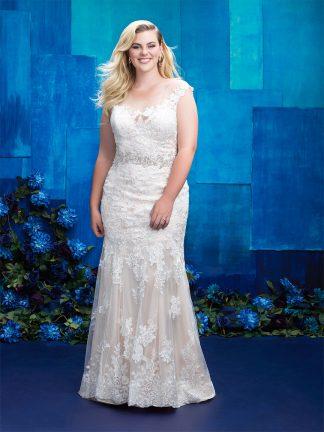 Plus Size Wedding Dress - HBW396 Front