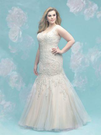 Plus Size Wedding Dress - HBW402 Back