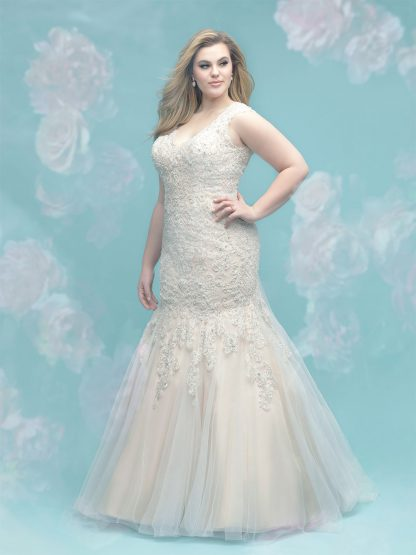 Plus Size Wedding Dress - HBW402 Back