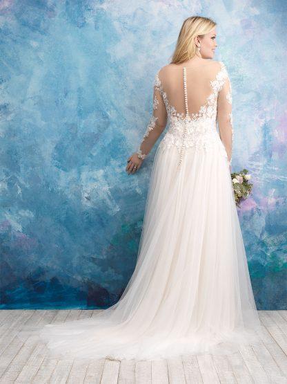 Plus Size Wedding Dress - HBW435 Back