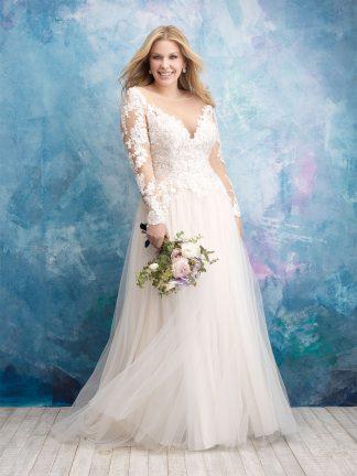 Plus Size Wedding Dress - HBW435 Front