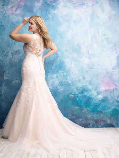 Plus Size Wedding Dress - HBW436 Back