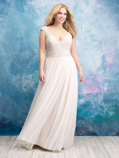 Plus Size Wedding Dress - HBW437 Front