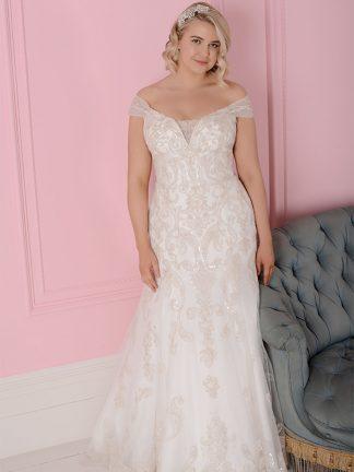 Plus Size Wedding Dress - HBWR409 Front