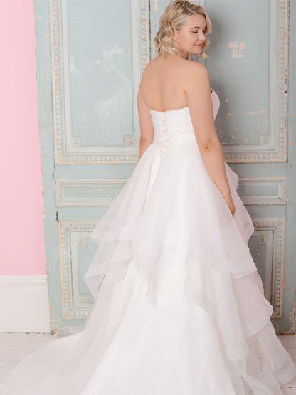 Plus Size Wedding Dress - HBWR413 Back