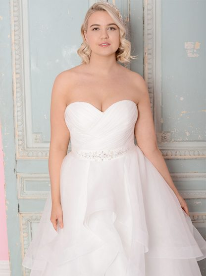 Plus Size Wedding Dress - HBWR413 Front
