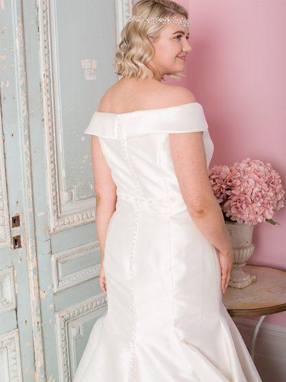 Plus Size Wedding Dress - HBWR421 Back